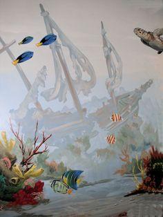 undersea mural mural idea as seen on www.findamuralist.com
