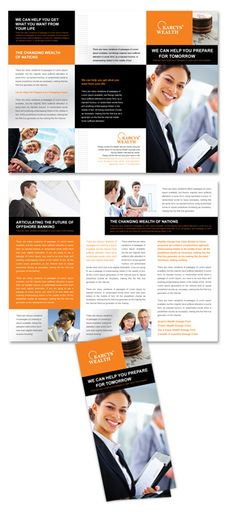 1000 images about financial design on pinterest for Managed services brochure template