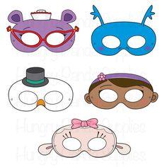 Máscaras para imprimir de médico médico por HappilyAfterDesigns