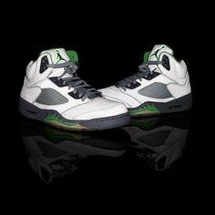 """292e39ba1e3f Air Jordan 5 """"Green Bean"""" (at Flight Club) Air Jordan 11 Low"""