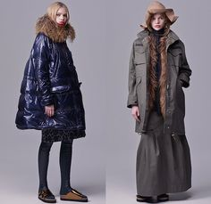 Sacai Luck 2015 Pre Fall Autumn Womens Looks Presentation Sacai Luck, Spring Fashion, Autumn Fashion, Leopard Leggings, Style Snaps, Knitted Poncho, Sheer Chiffon, Autumn Summer, Looking For Women