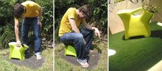 the easy way to pick berries. (By Plastex.fi) Made in Finland Finland, My Design, Berries, Stool, Bucket, Plastic, Gardening, Cool Stuff, Google Search