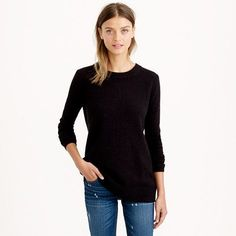 JCrew Collection Cashmere Zip Back Tunic $298   winter style