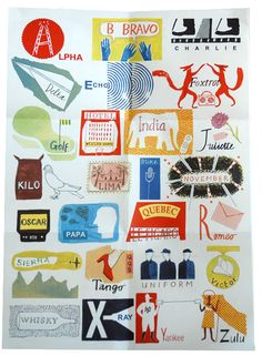 international phonetic alphabet poster by laura knight