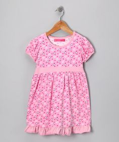 Take a look at this Bamba Kids Pink Swirl Babydoll Dress - Infant, Toddler & Girls by Bamba Kids on #zulily today!