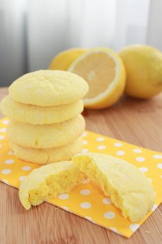 lemon sunshine cookies - The sour cream makes them so chewy and moist. A definite crowd pleaser! Next time I plan to double the amount of lemon zest and juice because my family and I prefer a stronger lemon flavor.