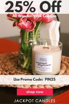 Shop all Wooden Wick candles for 25% off today! Use Promo code: PIN25 at checkout. Feel the freshness of the sea all around you whenever you light your Mermaid Daydream Jewelry Ring Candle!  When your wooden wick candle burns low enough you can enjoy your ring surprise worth $15 - $5,000 that's hidden inside. Diy Candles Scented, Bath Candles, Yellow Candles, Red Candles, Candle Maker, Candle Molds, Expensive Candles, Church Candles, Jewelry Candles