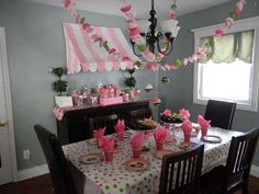 Meghan's 10th Birthday | CatchMyParty.com--Cute awning and adorable cupcake liner garland!