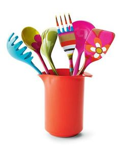 Multicoloured and bright kitchen utensils