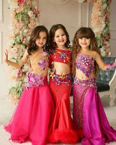 Dance Dresses For Kids, Cute Girl Dresses, Dresses For Tweens, Girl Outfits, Cute Dance Costumes, Belly Dance Costumes, Brown Evening Dresses, Pageant Swimwear, Little Girl Costumes