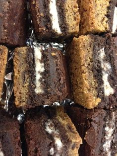 """Slutty brownies"" for the Daily Glow holiday dessert potluck party today! #Yum"