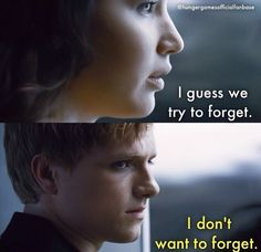 The hunger games .. Katniss and Peeta movie quotes
