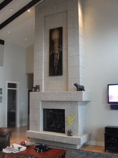 Fireplace Mantels contemporary-living-room