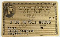 LUTHER VANDROSS` SIGNED AMERICAN EXPRESS EXECUTIVE GOLD CREDIT CARD | Nye & Company Auctioneers