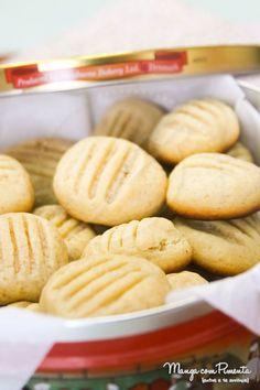 Biscoito Amanteigado - Youtube, esses biscoitos doces são maravilhosos. Clique na imagem para ver a receita no Manga com Pimenta.