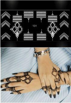 New and unique!  Henna Tattoo Stencil Template 4 Sheet Set beautiful Henna Designs2 Henna Tattoo Stencils, Mehndi Tattoo, Mehndi Art, Henna Mehndi, New Mehndi Designs, Mehandi Designs, Mahdi Design, Rose Henna, How To Make Henna