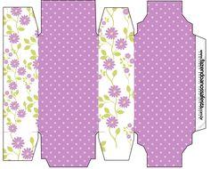 Caixa Sabonete Floral Lilás: