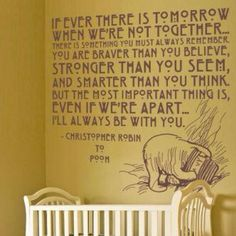 Baby room pooh quote