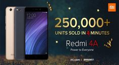 250000 Redmi 4A units sold out in first sale   The Redmi 4A was available today on Amazon as well as Mi.com website, this was the first s... Pvc Wall Panels, Lobbies, Fitness Studio, Clinic, The Unit, Website, Amazon, Amazons, Riding Habit
