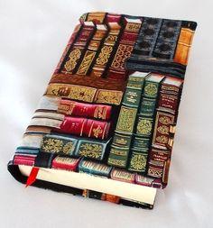 Büchertaschen - Buchhülle *antike Bücher in altrot* - ein Designerstück von Steffis-Bastel-und-Naehecke bei DaWanda
