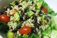 Black bean and avacado rice salad (Vegan)