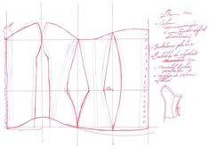 Corset Sewing Pattern, Pattern Drafting, Dress Sewing Patterns, Clothing Patterns, Bra Pattern, Sewing Basics, Sewing Hacks, Sewing Projects, Pattern Cutting