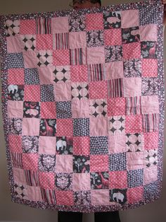 quilt inspiration - i like the squares of the same pattern are going diagonally
