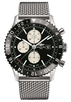 With one of the strongest ties to aviation of any watch manufacturer, Breitling is well know for its range of pilot's watches. This year, Breitling will add Breitling Superocean Heritage, Breitling Navitimer, Breitling Watches, Breitling Chronograph, Sport Watches, Cool Watches, Watches For Men, Men's Watches, Black Watches