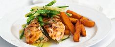 Chargrilled Chicken Fillets with Garlic Beans and Polenta Chips | In Season: Autumn | MiNDFOOD