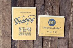 Wedding invitation - Vintage Map Invitation Set