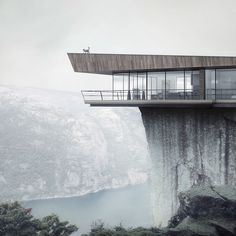90 Breathtaking Cliff House Architecture Design and Concept Cantilever Architecture, Architecture Durable, Architecture Design, Amazing Architecture, Contemporary Stairs, Contemporary Interior, Contemporary Architecture, Contemporary Office, Contemporary Apartment