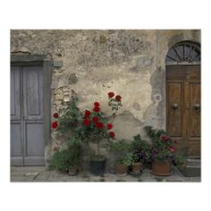 Tuscan Doorway in Castellina in Chianti Italy Photographic Print by Walter Bibikow  sc 1 st  Pinterest & Tuscan Landscape Fine Art Print - 13x19 inches with Matte - FREE ...