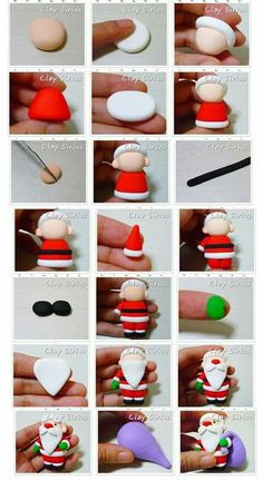 Christmas Cake Designs, Christmas Cake Decorations, Christmas Projects, Make Your Own Clay, How To Make Clay, Diy Clay, Clay Crafts, Diy And Crafts, Polymer Clay Figures