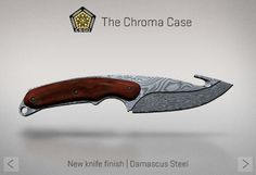 Counter-Strike Global Offensive: The Chroma Case: Gut knife Damascus Steel