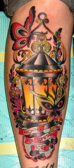 tattoo lamp and butterflies
