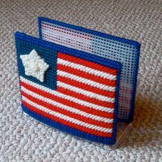 Plastic Canvas American Flag Napkin Holder by ReadySetSewbyEvie, $6.00