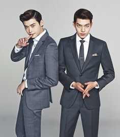 1. men in suits..... *drool* 2. it's Lee Jong Suk and Kim Woo Bin.... *drool* 3. their expressions.... 4. their height! 5. their manly 6. *drool*drool*drool*