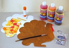 Thanksgiving craft! Make a turkey while you bake the turkey. Read Lorie's latest crafts blog.