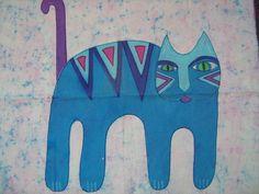 Cuadro gato azul
