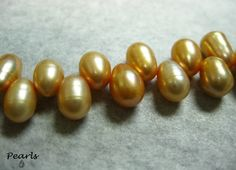 Teardrop shaped natural Pearl beads from yours truly