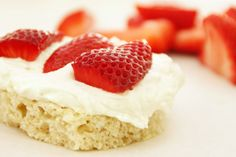 strawberry vanilla cake bites - gluten free, dairy free More