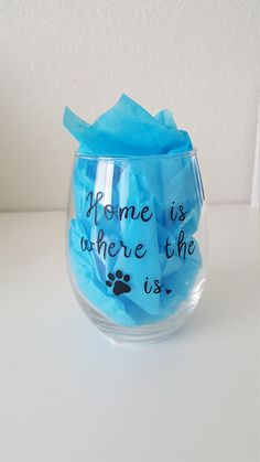 Your place to buy and sell all things handmade Wine Glass Decals, Mountain Designs, Vinyl Decals, Dog Lovers, Fur, Craft Ideas, Handmade, Gifts, Etsy
