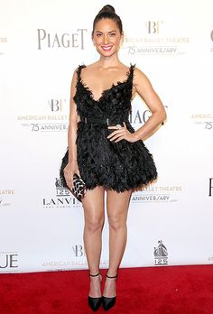 Olivia Munn's red carpet getup looked like it was pulled straight from the Black Swan's luxe costume designed by Rodarte.