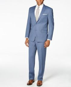 MICHAEL Michael Kors Men's Medium Blue Pindot Classic-Fit Suit | macys.com
