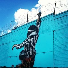 A Bolt of Blue - Street Art: Bushwick, Brooklyn Icy and Sot