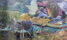 Acrylic colour on acrylic layer 120x200 cm.  2014