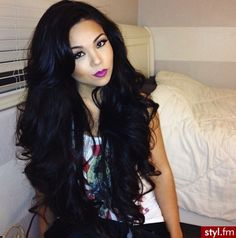 Full dark voluminous curls
