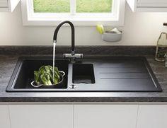 Lamona Black standard composite 1.5 bowl sink