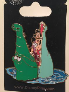 Poor Captain Hook! It looks like he smiled at that crocodile (Tick-Tock). This Open Edition hinged pin features the Crocodile that opens his mouth to reveal Cap