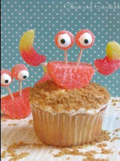 Crab summer cupcakes